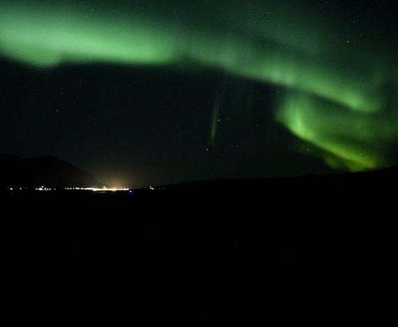best places to see the nothern lights in iceland